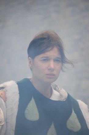 Marie Lussignol, dans le rôle de Jeanne d'arc, documentaire fiction production EWTN