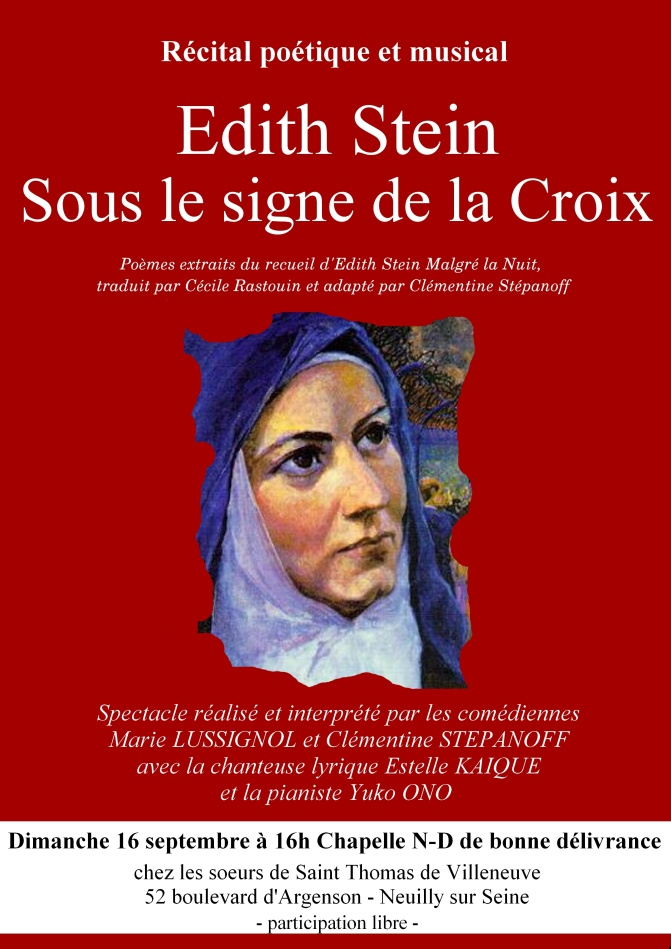 16 sept affiche Edith Stein
